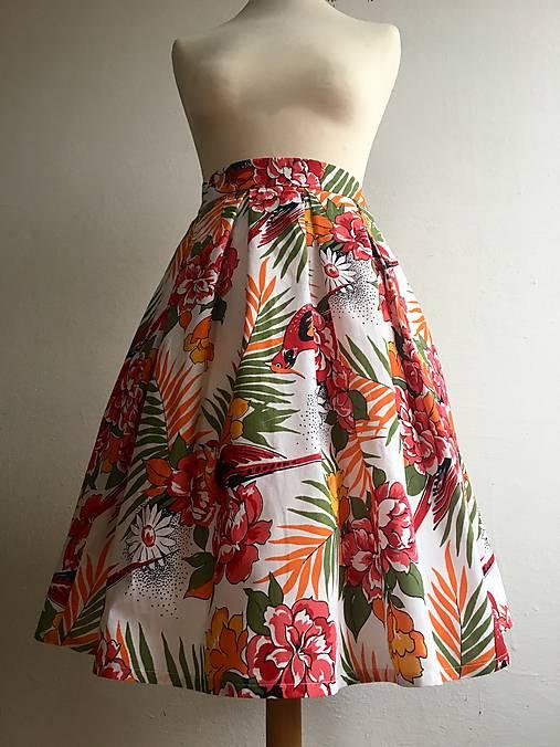 sukňa Pestrofarebné exotic kvety