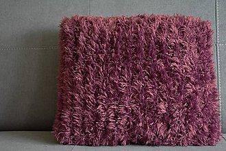 Úžitkový textil - Pletený vankúš - PURPLE - 10201556_