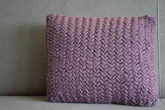 Úžitkový textil - Pletený vankúš - LIGHT VIOLET - 10201625_