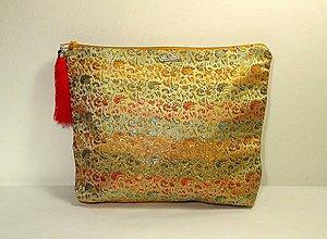 Iné tašky - Elegantná taška žltá so strapcom - 10202598_