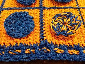 Hračky - Oranžovo modré piškvorky - 10203408_