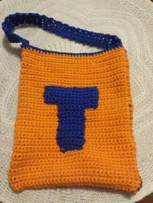 Detské tašky - Oranžová taška na piškvorky - 10203538_