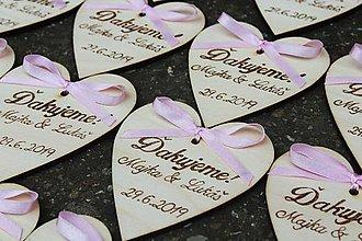 Darčeky pre svadobčanov - Vypaľované magnetky - 10202343_