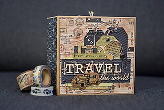 Papiernictvo - Cestovateľský album - vintage - 10199188_