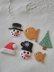 Dekorácie - vianočné ozdoby, magnetky, visačky - 10201388_