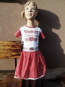 Detské oblečenie - Modrotlač - suknička - 10200264_