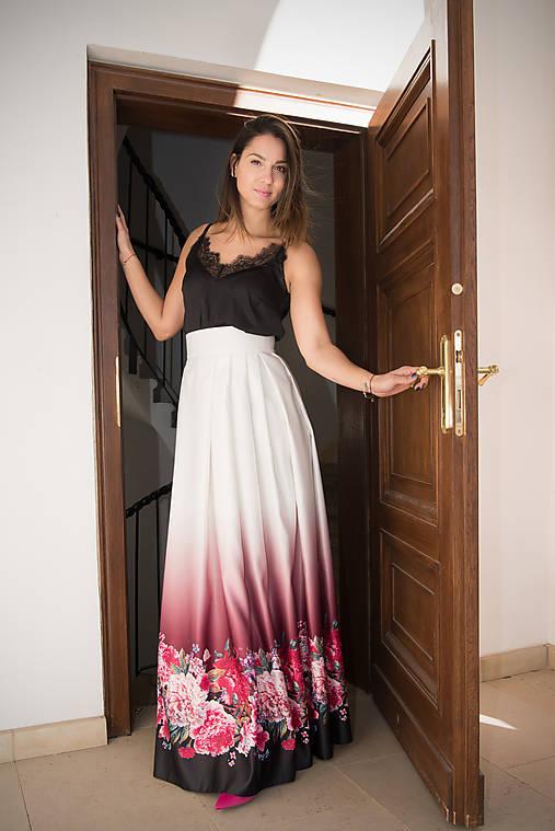 803475b49de7 Skladaná dlhá saténová sukňa   miracles.style - SAShE.sk - Handmade ...