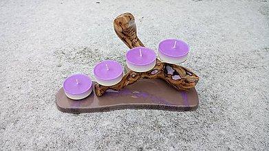 Svietidlá a sviečky - Fialkový svietnik - 10203354_