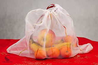 Úžitkový textil - Zerowaste vrecúško recyklované - 10199779_