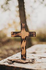 Dekorácie - Drevený krížik pravidelný - 10200081_