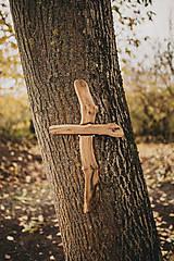 Dekorácie - Drevený kríž nepravidelný - 10200097_