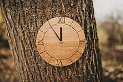 Hodiny - Drevené hodiny s vypálenými číslami - 10200141_