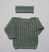 Detské čiapky - Čelenka pletená - 10202597_