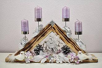 Svietidlá a sviečky - Adventný svietnik: Čaro Vianoc T50405 - 10201403_