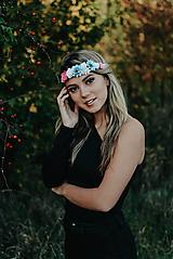 Ozdoby do vlasov - Elastická čelenka s kvetinami - 10203162_