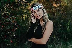 Ozdoby do vlasov - Elastická čelenka s kvetinami - 10203163_