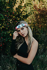 Ozdoby do vlasov - Elastická čelenka s kvetinami - 10203165_