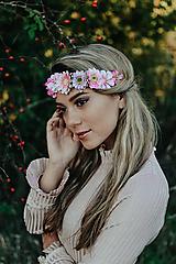 Ozdoby do vlasov - Elastická čelenka s kvetinami - 10203254_