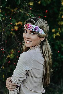 Ozdoby do vlasov - Elastická čelenka s kvetinami - 10203185_