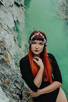 Ozdoby do vlasov - Party retiazková čelenka s flitrami - 10203287_