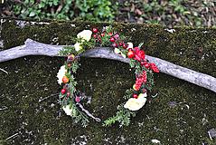 Ozdoby do vlasov - Kvetinový venček Rockin' Around the Christmas Tree - 10198954_