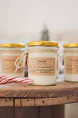 Svietidlá a sviečky - VÝPREDAJ: Vianočné sójové sviečky 320g rôzne druhy (Pepermintová lízanka) - 10201727_