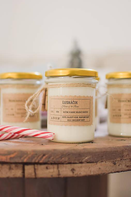 VÝPREDAJ: Vianočné sójové sviečky 320g rôzne druhy (Pepermintová lízanka)