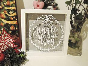 "Obrázky - ""Jingle all the way"" - vyrezávaný papier (Čierna) - 10203481_"