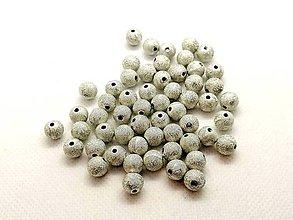 Korálky - Korálka plastová 8mm (Strieborná) - 10200646_