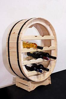 Dekorácie - Vinotéka, Stojan na víno - 10201618_