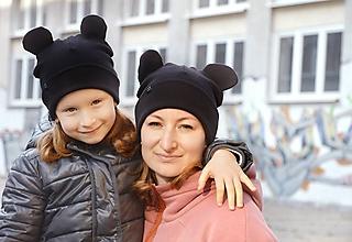 Detské čiapky - Flexi čiapka Mickey čierna - 10199256_