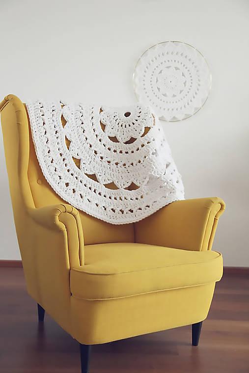Úžitkový textil - Háčkovaný koberec - 10200445_