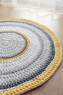Úžitkový textil - Háčkovaný koberec - 10200401_