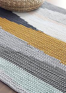 Úžitkový textil - Háčkovaný koberec - 10200425_
