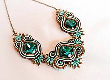 Náhrdelníky - Simple design III. - náhrdelník (Zelená) - 10202558_