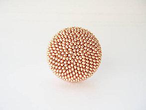 Sady šperkov - Set Šarm v drevenej darčekovej kazete (Rosegold) - 10199047_