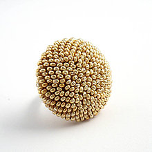 Sady šperkov - Set Šarm v drevenej darčekovej kazete (Matná béžová) - 10199118_