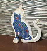 Dekorácie - Drevená mačička - 10198879_