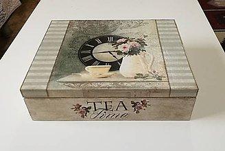 Krabičky - Veľká čajová krabica 12 priehradok - 10200467_