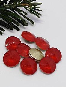 Komponenty - Sklenené rivolky 12 mm (Červená ohnivá) - 10201605_