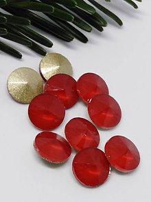 Komponenty - Sklenené rivolky pastelové 10 mm (Červená ohnivá) - 10201668_
