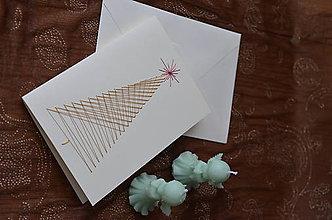 Papiernictvo - Vianočný stromček - pohľadnica - 10199890_