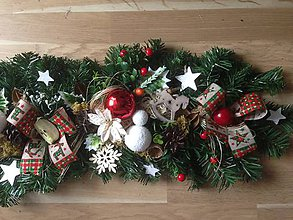 Dekorácie - Vianočna 90cm girlanda - 10199183_