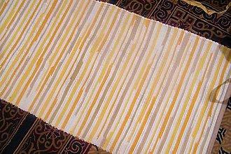 Úžitkový textil - Tkané koberce bielo-oranžovo-žlto-béžové  - 10203066_