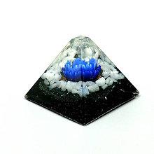 Dekorácie - Andělský kvítek * Modrý * Pyramida - 10206143_
