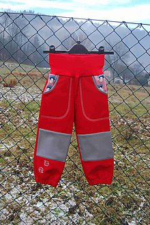 """Detské oblečenie - Softshellové kalhoty """"houbičky"""" (vel.98 ihned) - 10204174_"""