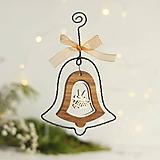Dekorácie - vianočná dekorácia zvonček - 10206023_