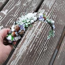 Ozdoby do vlasov - Vianočná, sviatočná, zimná čelenka Tri oriešky - 10205642_