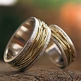 Prstene - Prepletené cesty osudu /celostrieborné varianty/ (Obrúčky s prachovými okrajmi) - 10207478_