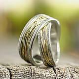 Prstene - Prepletené cesty osudu /celostrieborné varianty/ (Obrúčky s prachovými okrajmi) - 10207479_